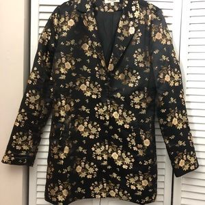Floral blazer dress